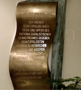 Gedenktafel Bundespolizeidirektion Wien,