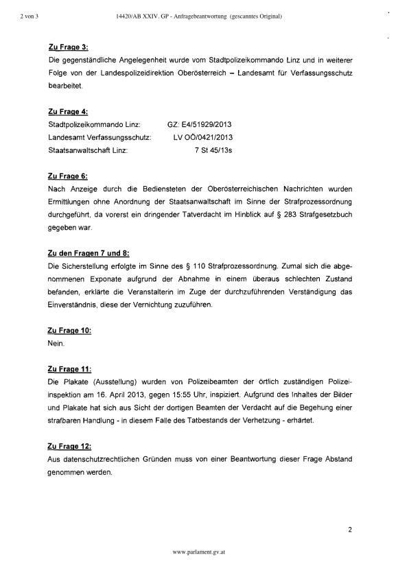 AB Mikl Leitner Ausstellung Linz Verhetzung