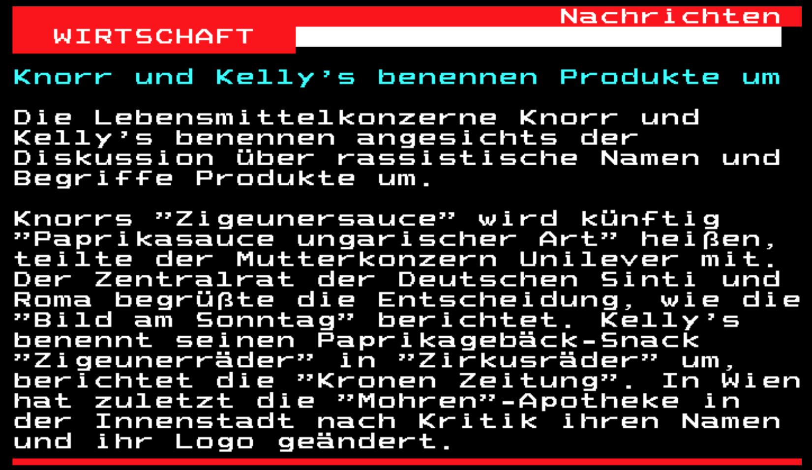 ORF Teletext, 16.8.2020